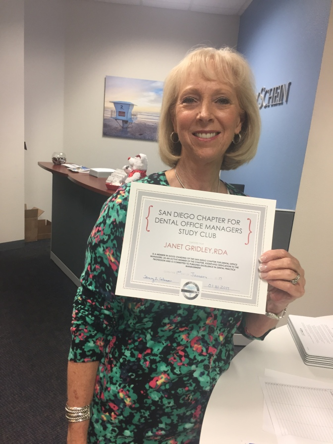 Board member, Janet: Office manager with RDA title!